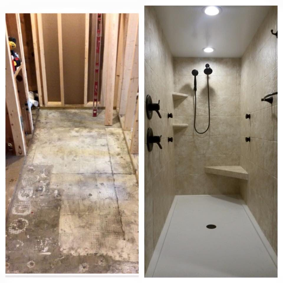 Shower drain replacement as well rebath northeast weekly digest - Before After Of A Large Shower We Installed This Shower Is Seven Foot By