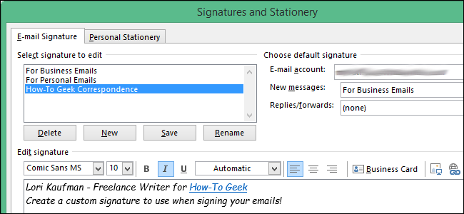 How To Use The Signature Editor In Outlook 2013 Business Emails Mail Signature Outlook