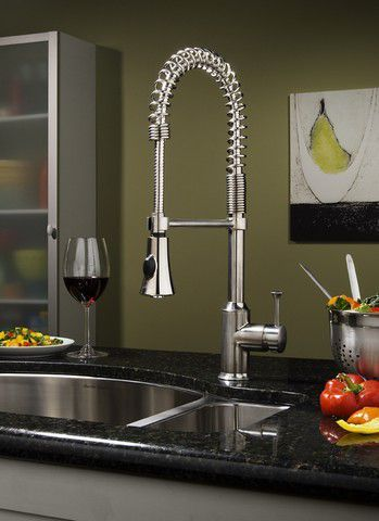 Superbe Pekoe Semi Professional Kitchen Faucet, Polished Chrome