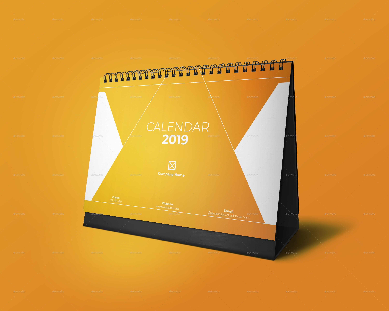 Desk Calendar 2019 Ad Desk, Sponsored, Calendar Desk