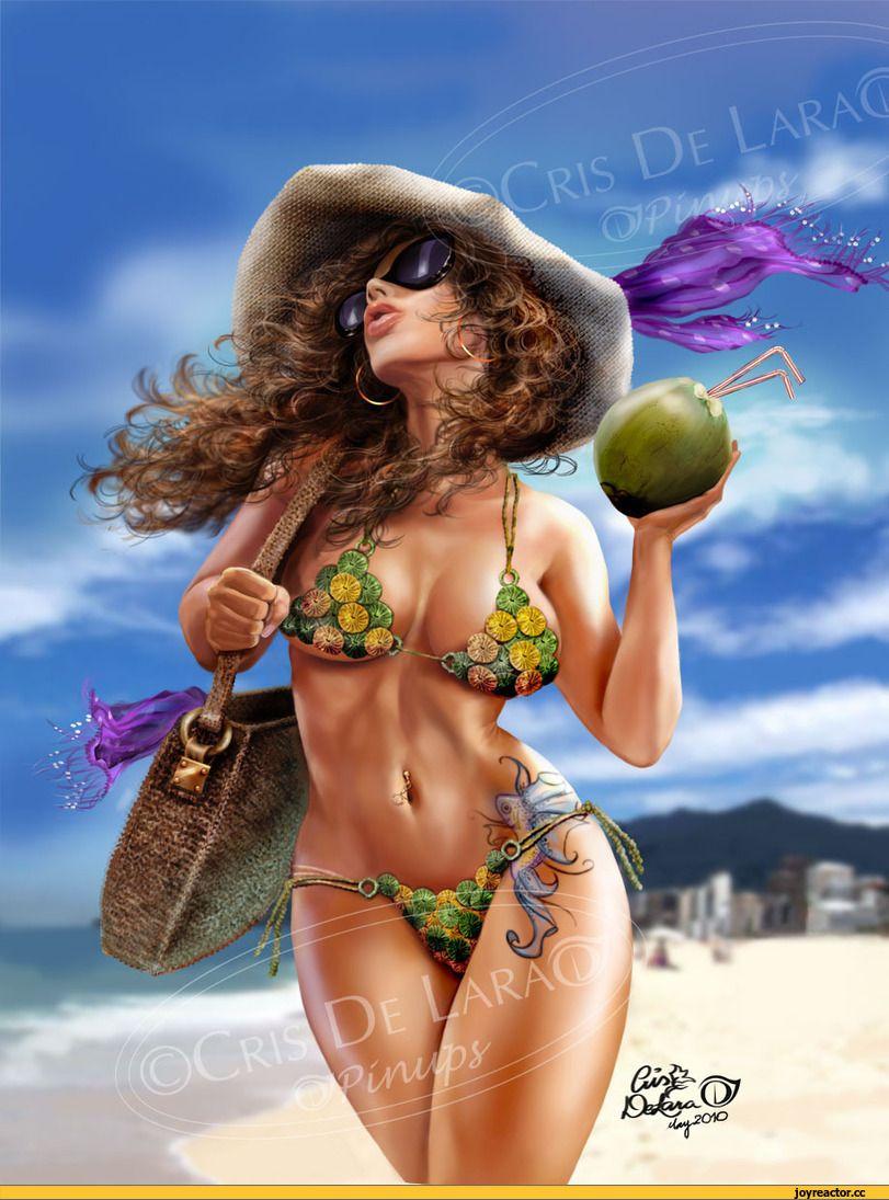 art барышня,красивые картинки,пляж,лето,Кликабельно