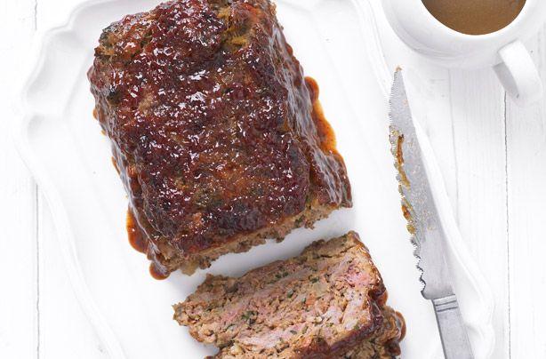 Hairy Bikers Meatloaf With Gravy American Recipes Goodtoknow Recipe Meatloaf With Gravy Meatloaf Food