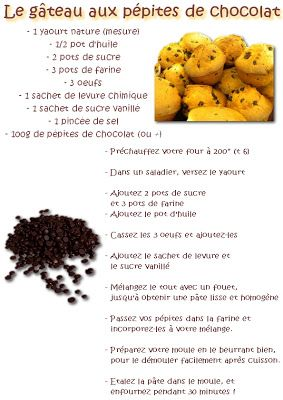 La Maternelle De Laurene Le Gateau Aux Pepites De Chocolat D Autres