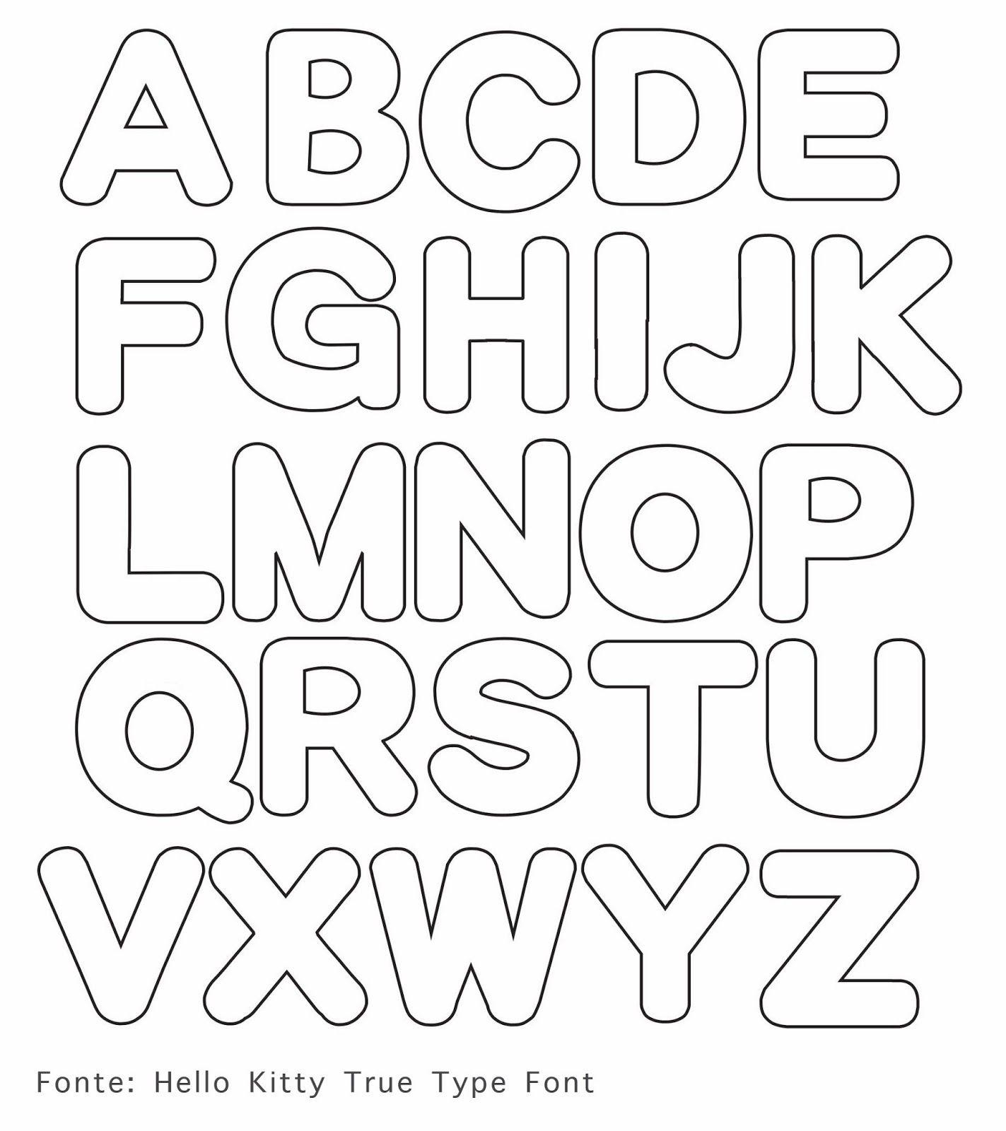 Moldes de letras em eva fonts felting and patterns - Letras para dibujar ...