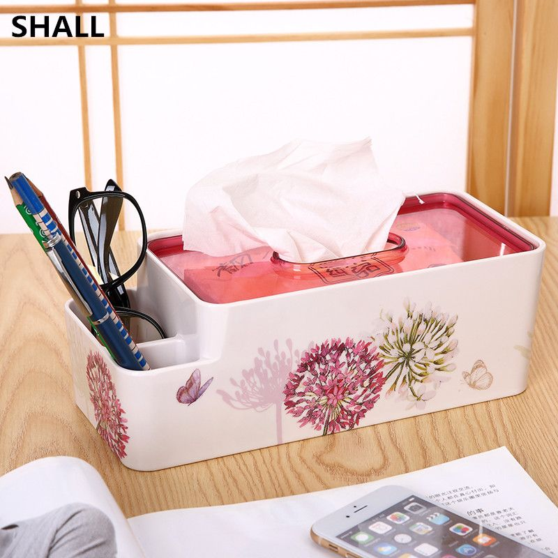 ==> [Free Shipping] Buy Best SHALL Luxury Multifunctional European Melamine Tissue Case Box With TV Remote Box Napkin Holder Sundries Case Storage Box Online with LOWEST Price | 32684946527