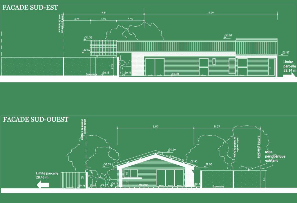 Maison « bois » type longère \u2013 Atelier Racines \u2013 ATELIER D