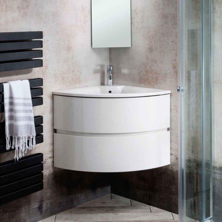 Crosswater Svelte Eck Waschtischunterschrank Mit Waschtisch Weissglanz Eckschminktisch Waschtischunterschrank Badezimmer
