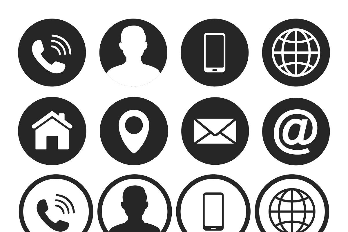 Contact Us Icons Web Icon Set In 2020 Web Icons Icon Set Web Icon Vector