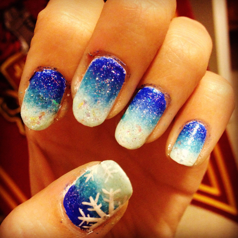 Disney frozen inspired nails   Nails   Pinterest   Nail nail