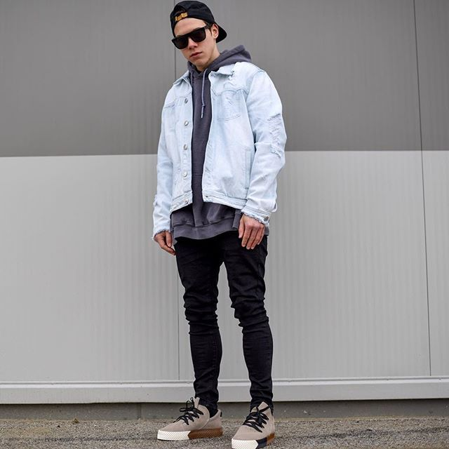 Shine Bright Like A Diamond Today Im Wearing A Hoodie By Asos Light Blue Denim Jacket By Newlookfashion Black Denim By Bershkacollection Sunglasses By S