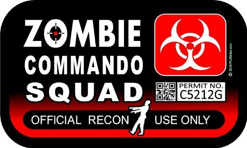 "ProSticker 1283 (One) 3"" X 5"" Zombie Series ""Zombie Commando Squad"" Decal Sticker ProSticker,http://www.amazon.com/dp/B00HXGK8W4/ref=cm_sw_r_pi_dp_Cnoetb0T27HN894F"