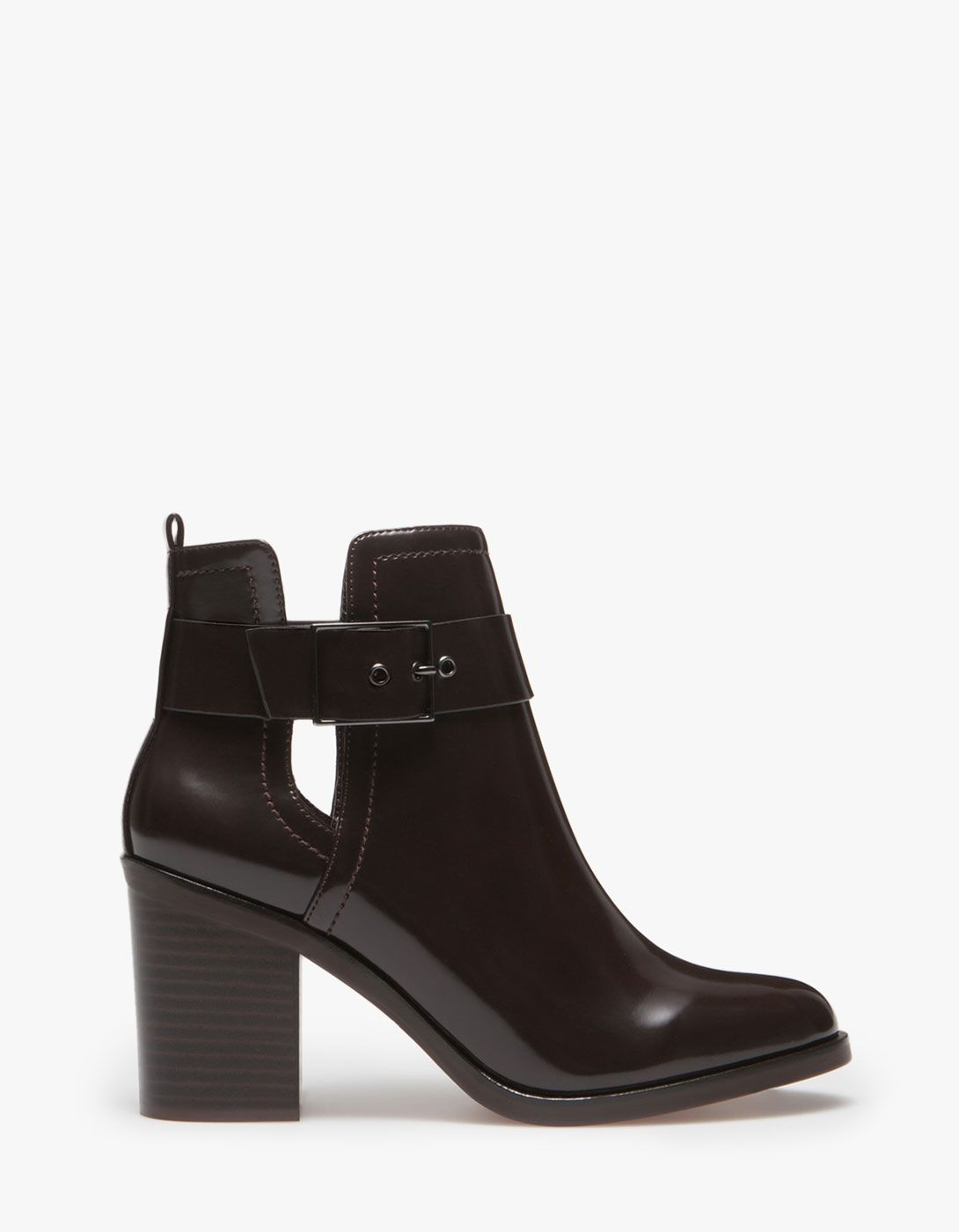 5e3d5118122 Stradivarius High heel cut out ankle boots | Shoes | Boots, Shoes, Heels