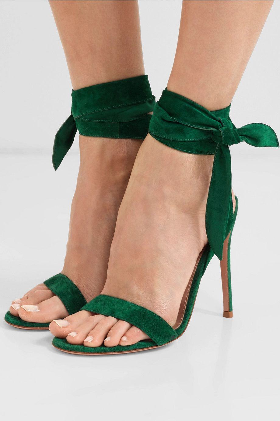 Pin on Legs Shoes Green Dress