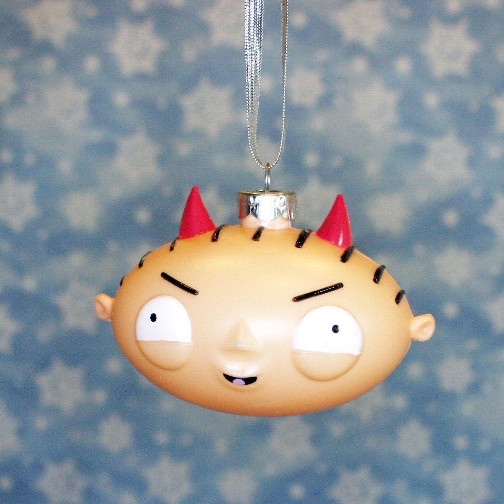 Family Guy Devil Stewie Head Christmas Ornament. $7.95, via Etsy.