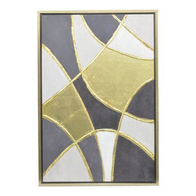 Three hands overlapping shape oil painting wall art featuring metallic gold details on a classic palette of cool gray tones the three hands overlapping