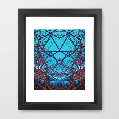 Neurons Framed Art Print by Scar Design - $38.00