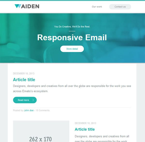 35 beautiful responsive email newsletter templates for Beautiful newsletter design