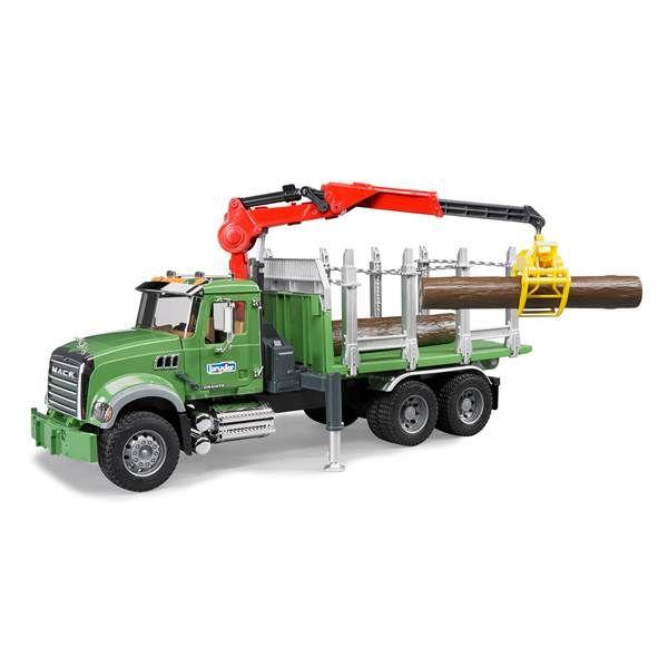 Bruder Mack Granite Timber Truck With Loading Crane From Blain S Farm And Fleet Trucks Hot Wheels Ultimate Garage Toy Trucks