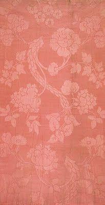 Pink damask designed by Anna Maria Garthwaite
