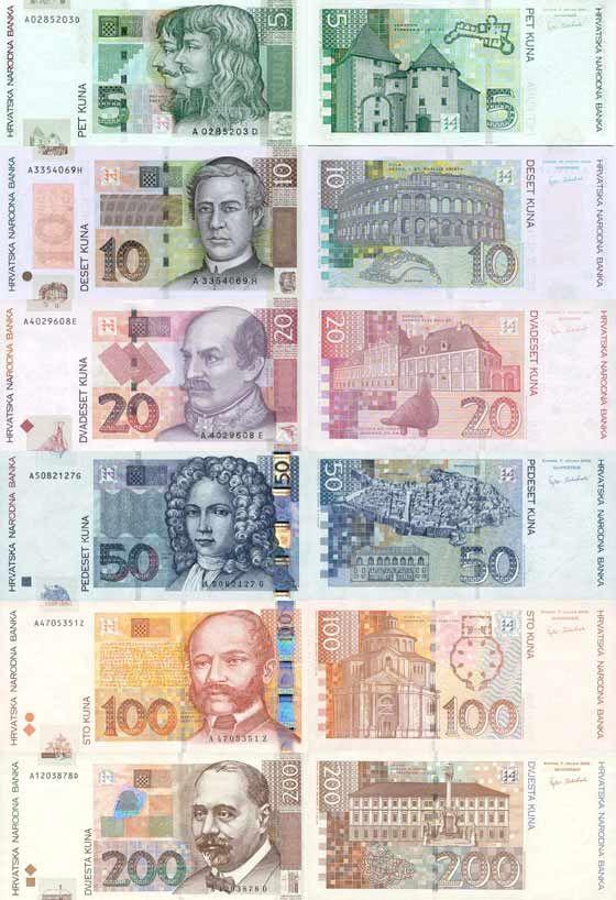 Croatian kuna Billetes, Filatelia
