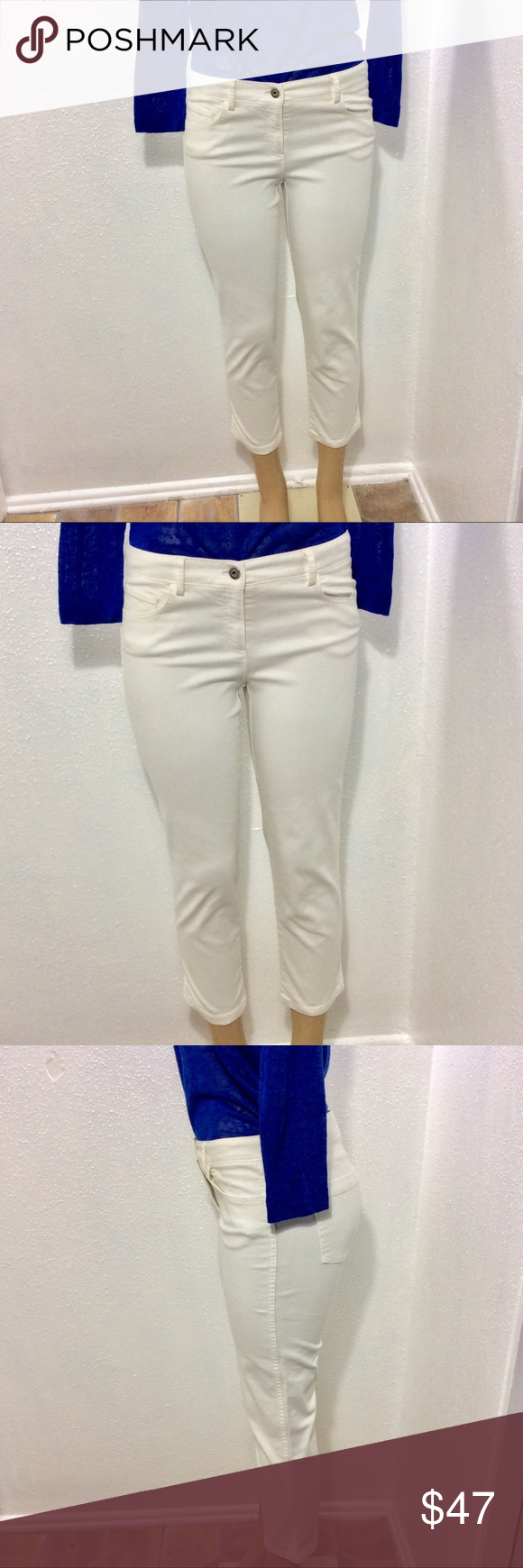 I just added this listing on Poshmark Theory cropped white jeans