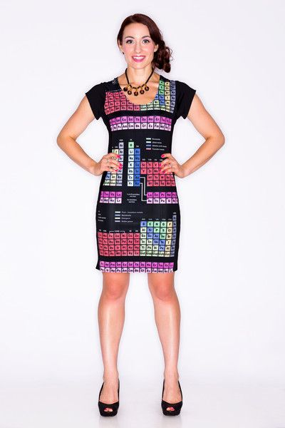 Periodic Table Panel Dress And Other Science Themed Dresses Maybe