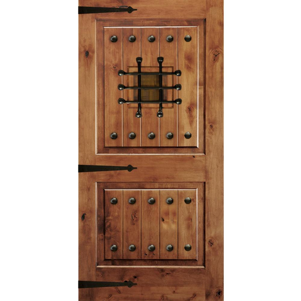 Krosswood Doors 42 In X 80 In Mediterranean Knotty Alder Square Top Unfinished Single Right Hand Inswing Prehung Front Door Phed Ka 300v 36 68 134 Rh M1 0 With Images Exterior Doors Front Door Knotty Alder