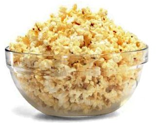 popcorn the old-fashioned way:    - start with a 1 quart size saucepan  - pour enough canola oil on bottom just to cover it (or use olive oil, but doesn't taste as good)  - pour in 1/4 cup popcorn kernels & shake pan to coat them with oil  - turn on burner between medium & high   - place lid on pan & shake constantly from side to side over heat  - once the popping slows down to 2-3 seconds between pops, take pan off heat & ready to eat!