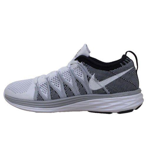 4e356523ea Nike Women s Flyknit Lunar2 - White   White-Wolf Grey-Black