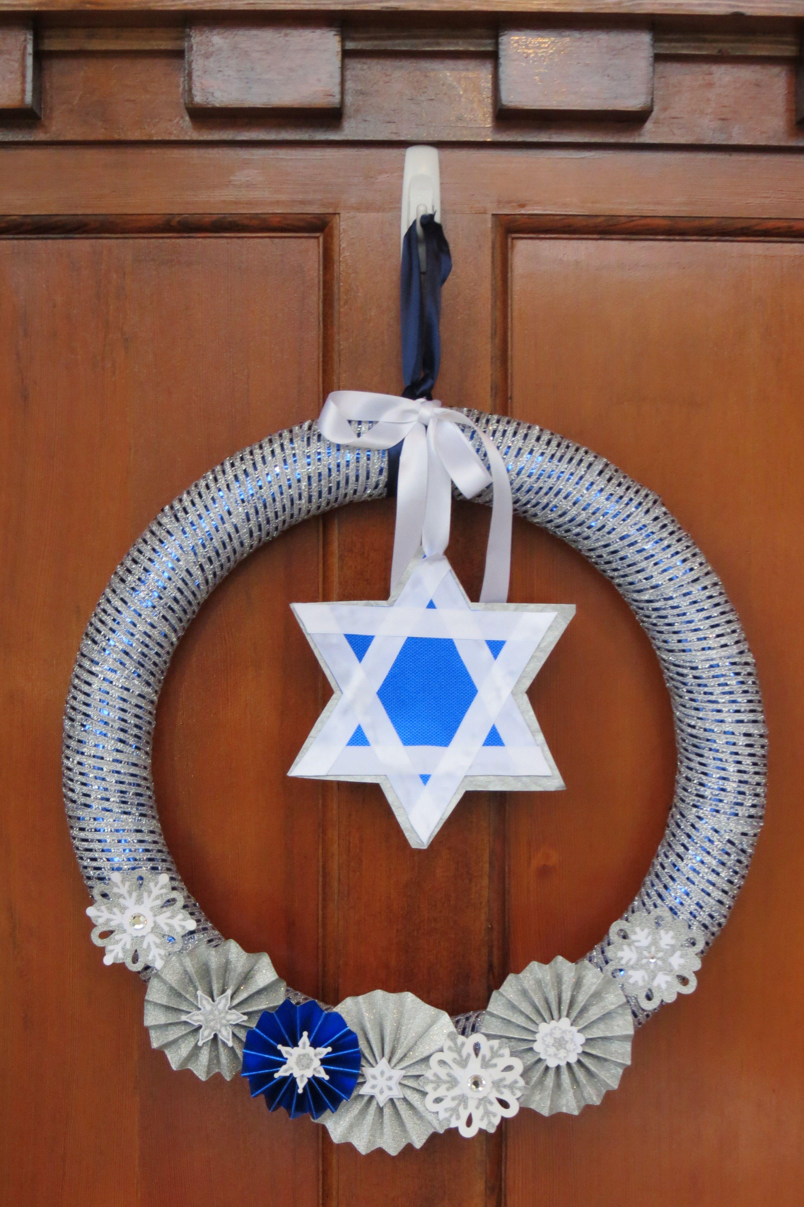Hanukkah Wreath Hanukkah Holiday Winter Jewish