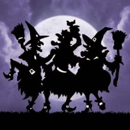 new halloween lawn art yard shadowsilhouette dancing witches 48h - Dancing Halloween