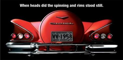When heads did the spinning and rims stood still!