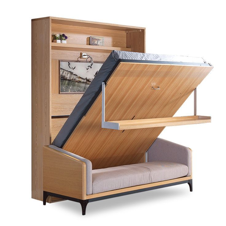 space saving wall mounted modern transformable folding on wall beds id=55438