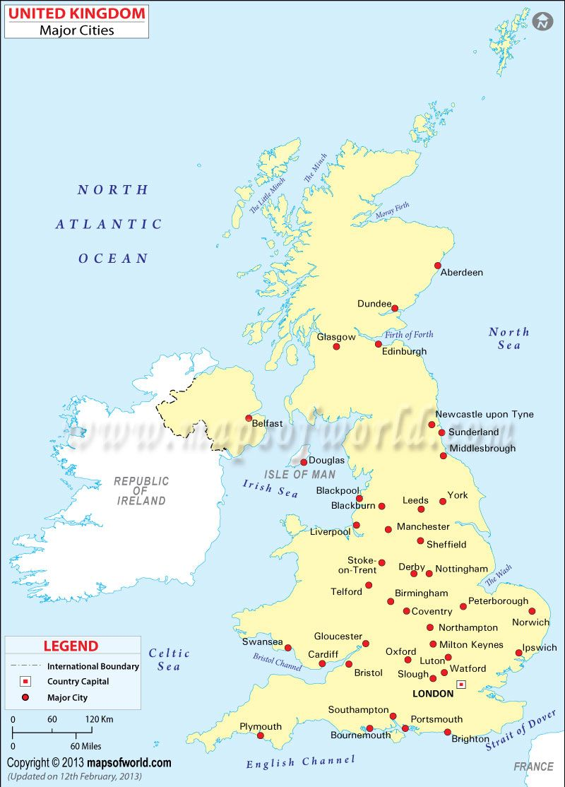 Uk Map With Cities Cities in UK | UK Maps & Images in 2019 | Map of britain, England