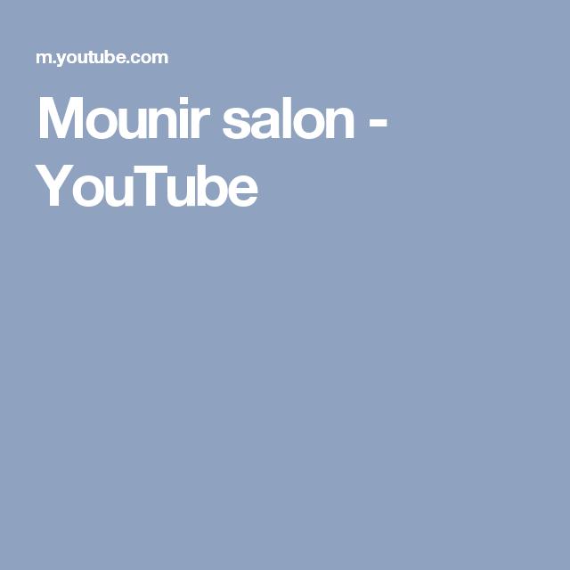 Ces De Cocina Youtube | Mounir Salon Youtube Coiffures Et Soin Des Cheveux Pinterest