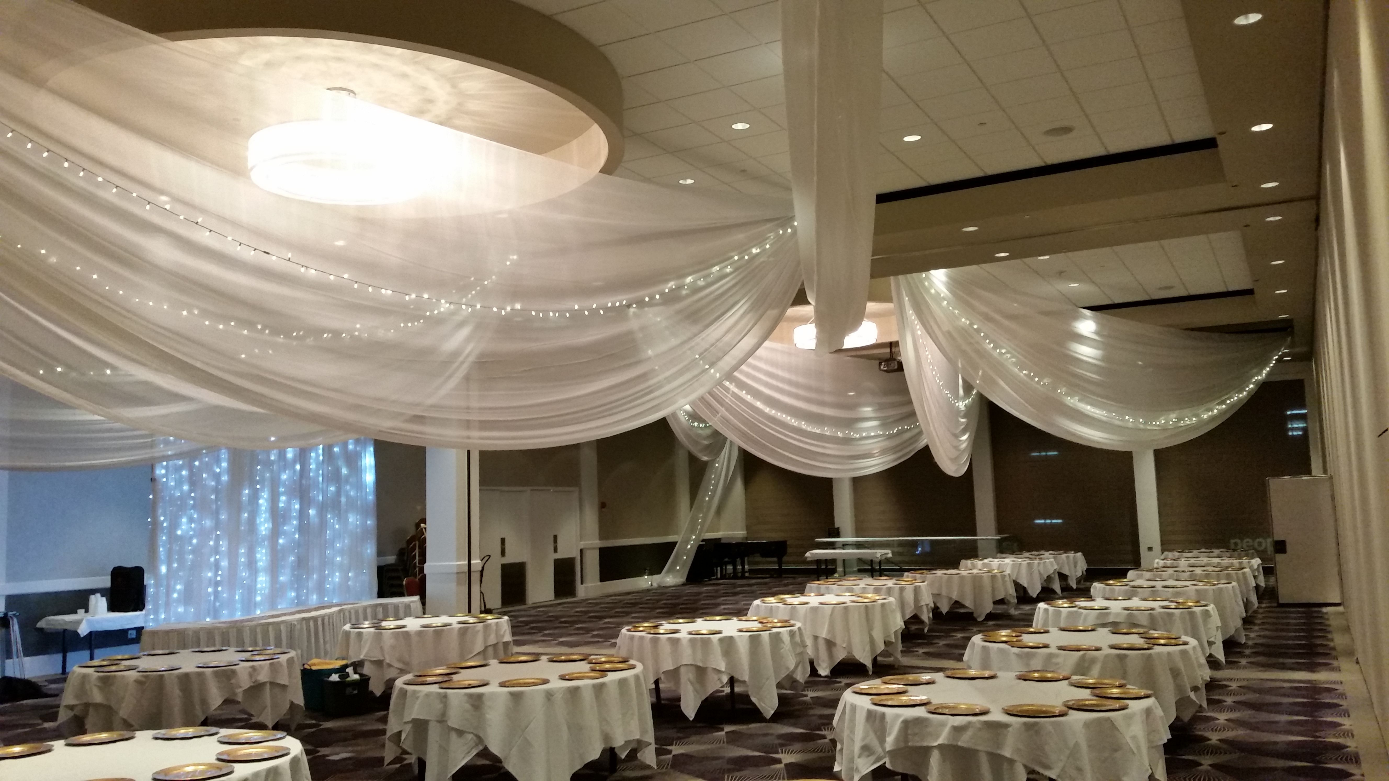 other foot listed ivory rentals price pipe high in drapes draping poly available chiffon and drape section per white black is for