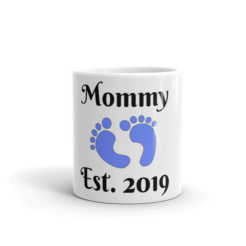 Mommy Est. 2019 Mug Boy, Mother's Day, Gift, Baby Shower
