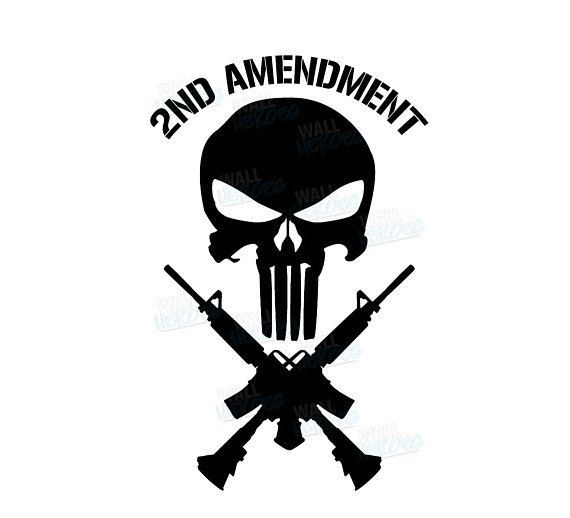 2nd Amendment Skull Car Decal Window Decal USA Decal
