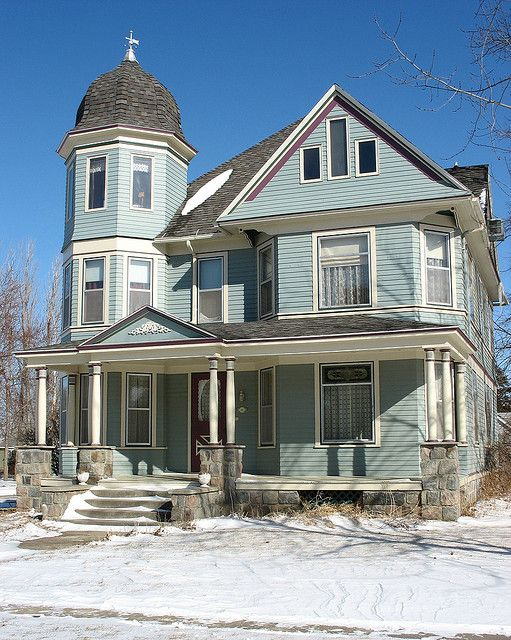 Blue Victorian Victorian Homes House Makeovers Victorian House