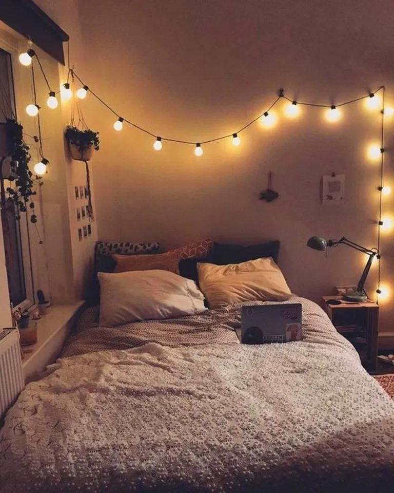 20 Adorable Diy Fairy Light For Minimalist Bedroom Decoration