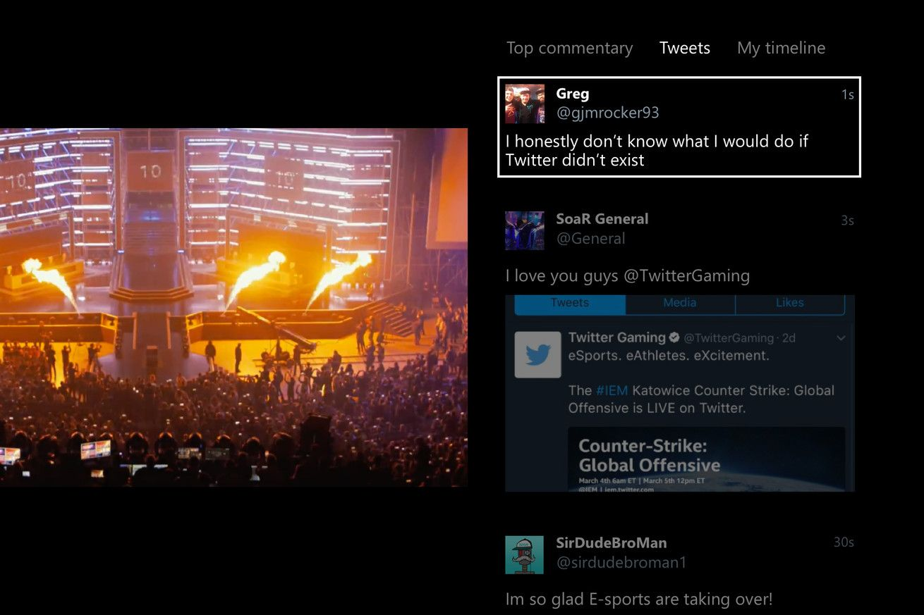Twitter for Xbox One now lets you watch your timeline
