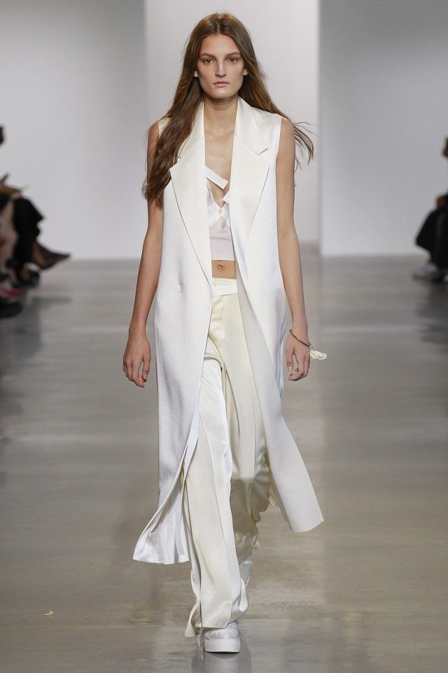 Calvin Klein Took the Slip Dress up a Notch at NYFW via @WhoWhatWear