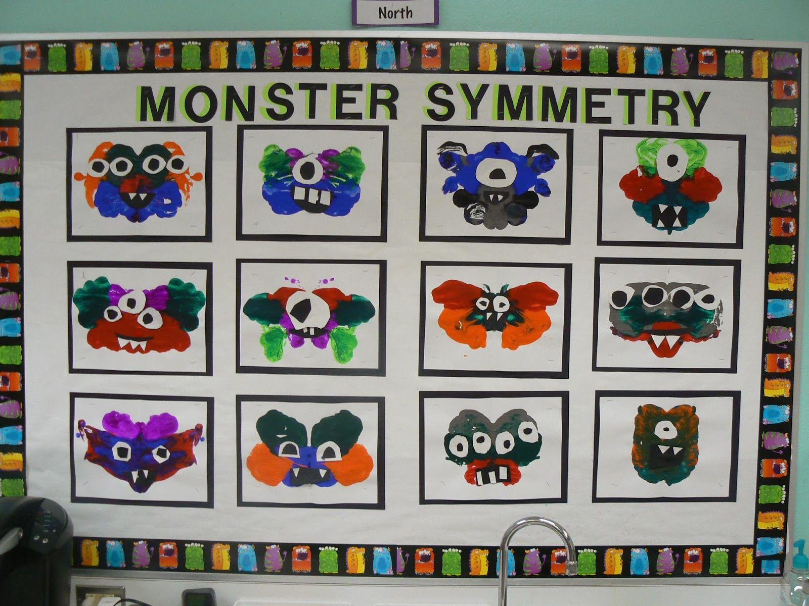 Mrs T S First Grade Class Monster Symmetry