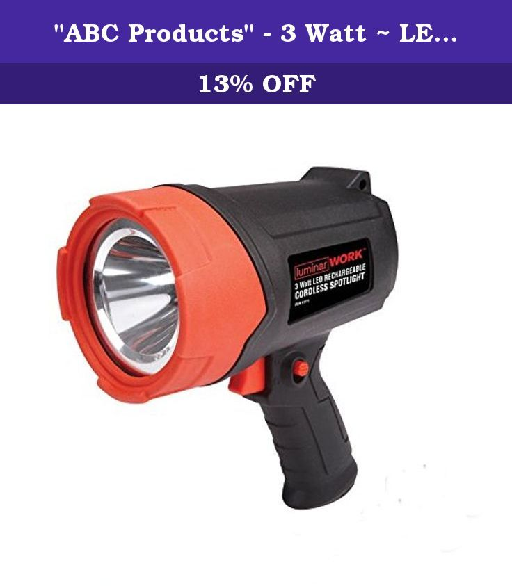 Abc Products 3 Watt Led Power Hand Held Rechargeable Luminar Work Spotlight Auto Shut Off Charges Wi Hiking Flashlight Harbor Freight Tools Recharge