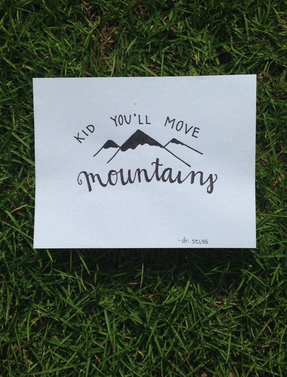 Kid Youll Move Mountains Dr Seuss Quote Canvas By SunflowerImage IdeasCanvas ArtMini