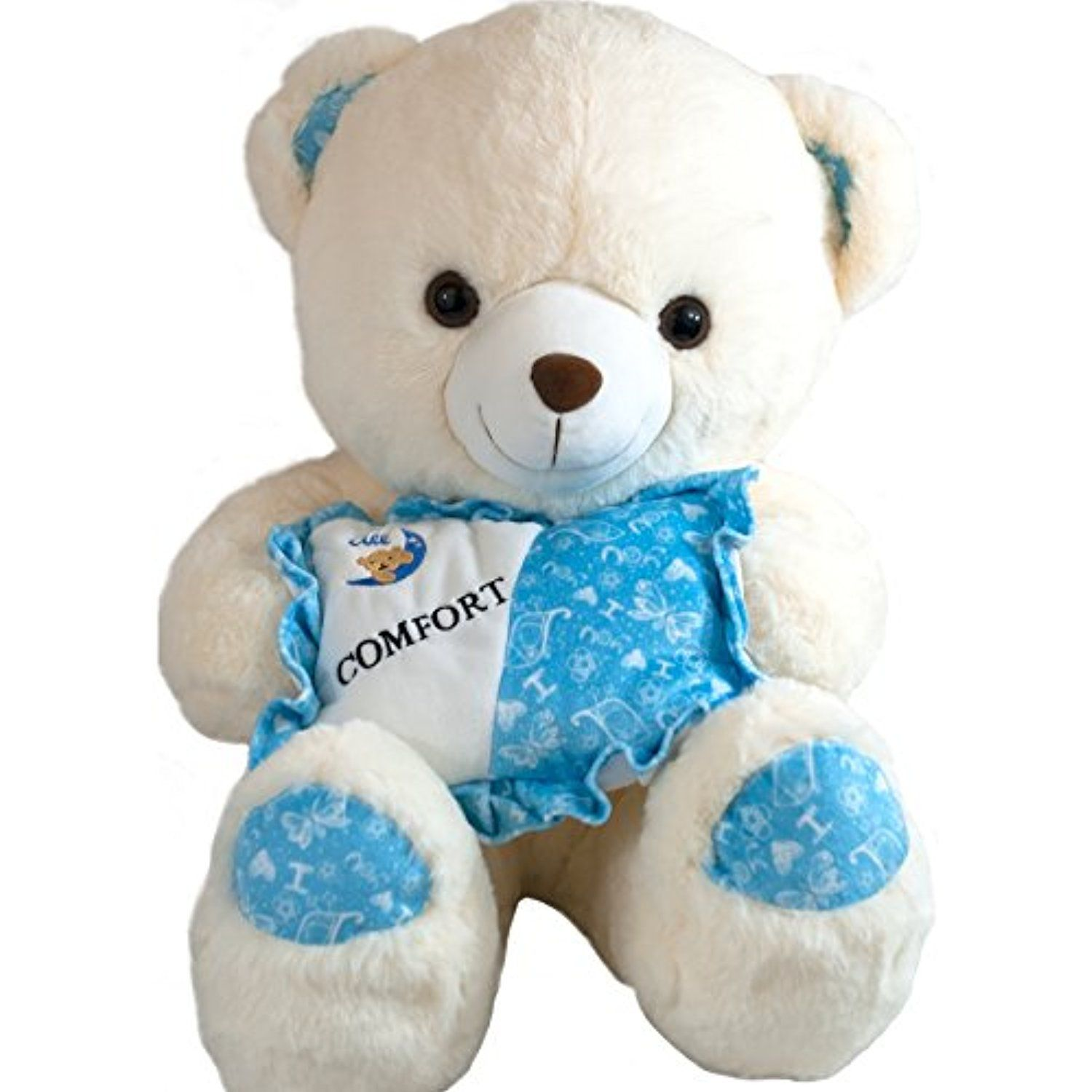 Teddy Bear 21 Inches Big Super Soft Cuddle Stuffed Animals Plush Toy White By All Comfort Check Out Teddy Bear Stuffed Animal Animal Plush Toys Teddy Bear [ 1500 x 1500 Pixel ]
