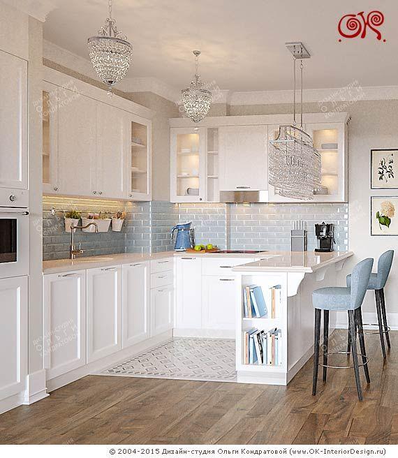 Фото новинка 2015 года Интерьер кухни-столовой в квартире Кухни