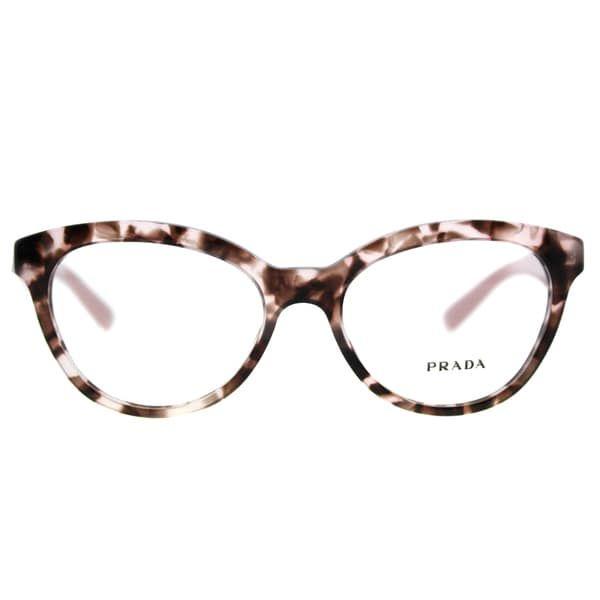 79359c0f1e7a Prada PR 11RV ROJ1O1 Triangle Pink Havana Plastic Cat-Eye 52mm Eyeglasses -  Free Shipping