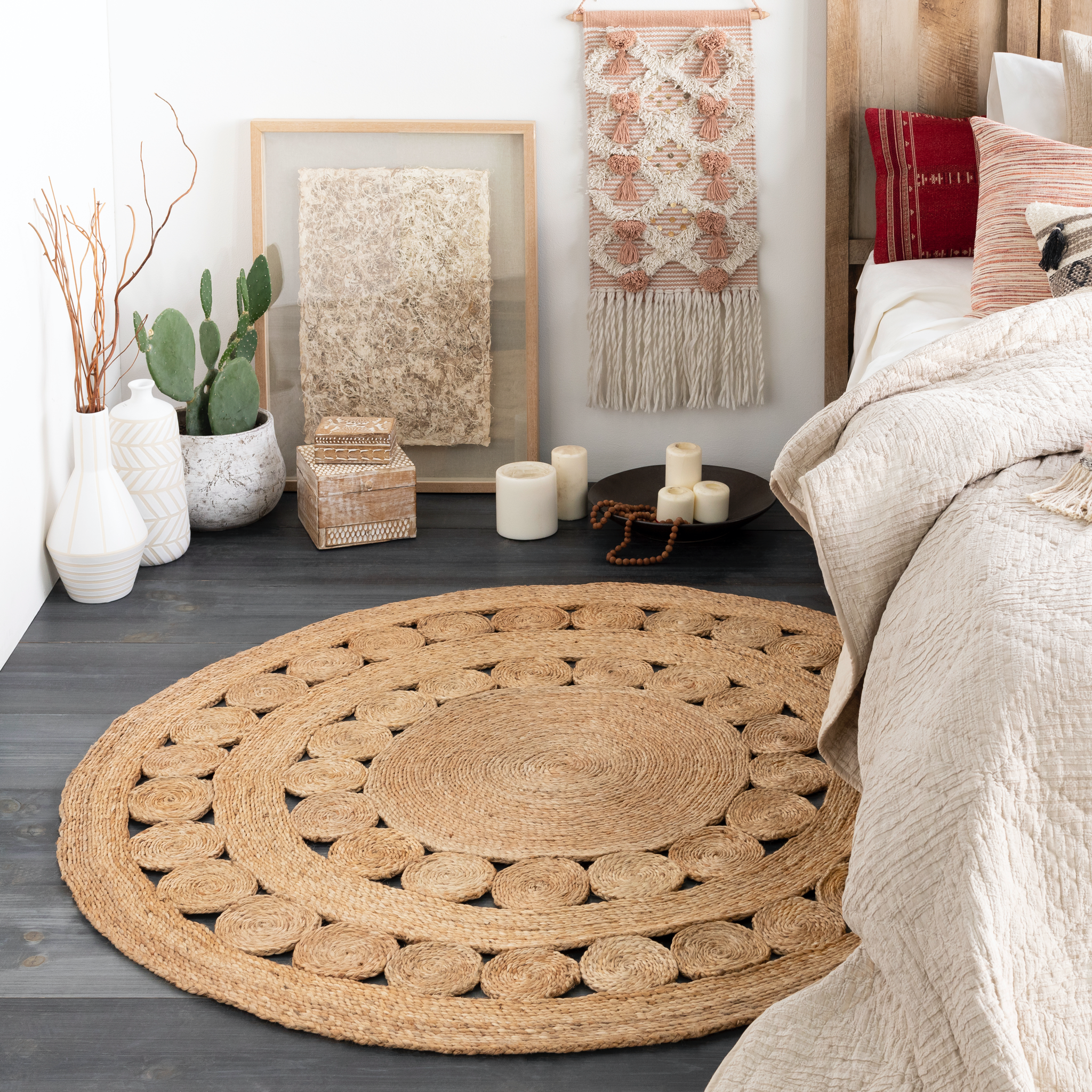 Round Jute Woven Rug In 2020 Jute Round Rug Jute Rug Living Room Rugs In Living Room