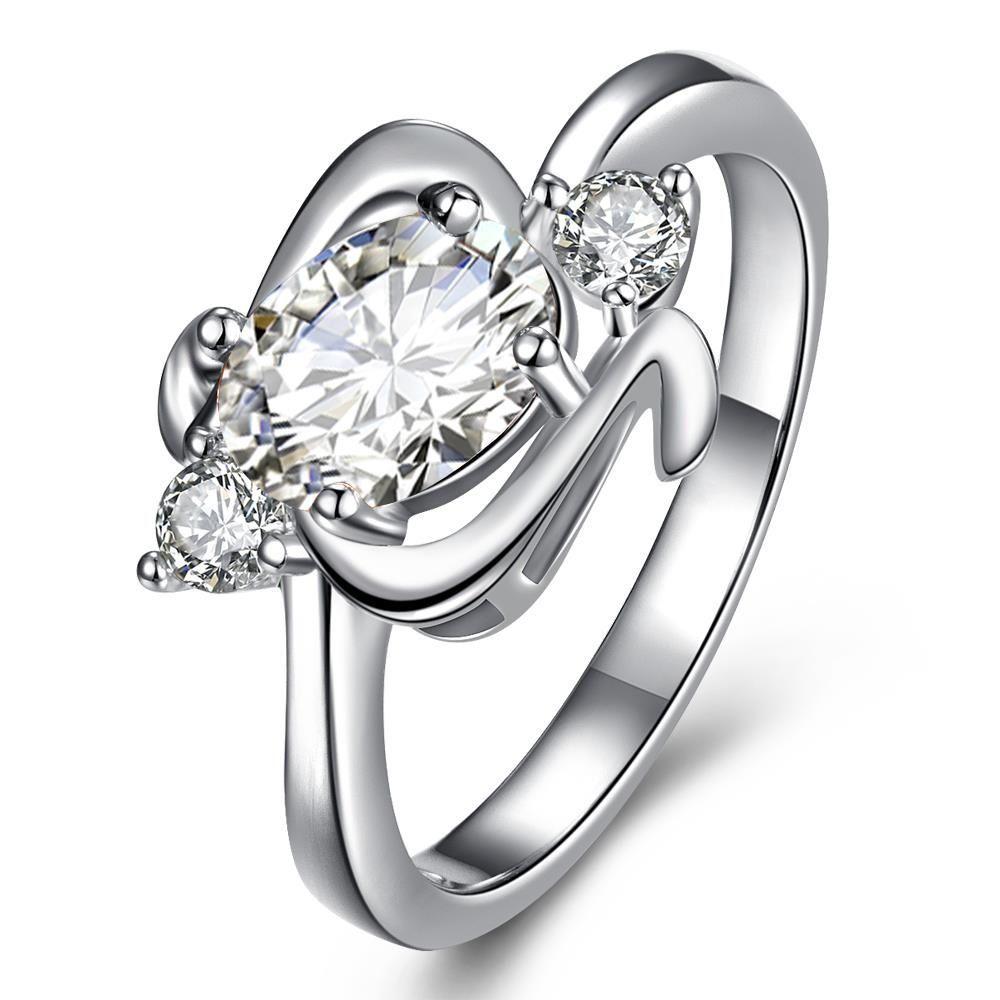 Vienna Jewelry Center Crystal Gem Spiral Emblem Petite Ring Women's